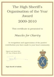 High Sheriff Commendation certificate