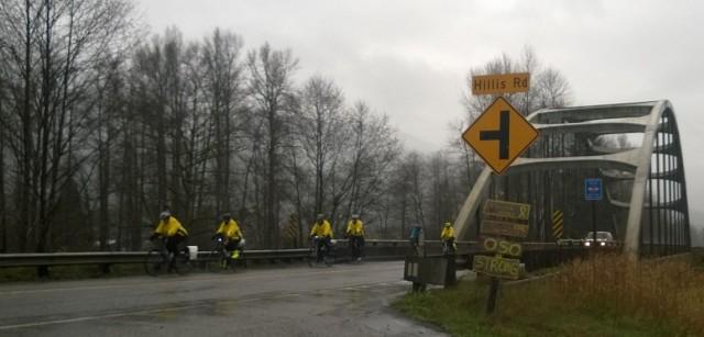 2015 Oso bridge shot of cyclists
